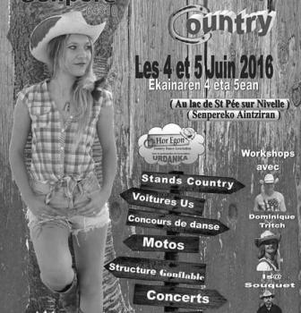 Les 4 et 5 Juin 2016 à St Pée sur Nivelle : Rencontre Country,  retrouvez nos talo !